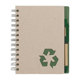 Eco Rich Spiral Notebook and Pen for Marketing