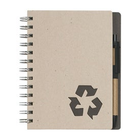 Eco Rich Spiral Notebook and Pen for Customization