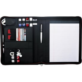 Personalized Elleven Vapor Zippered Padfolio