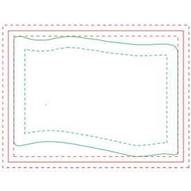 """Flag BIC Ecolutions Adhesive Die Cut Notepad (4"""" x 3"""", 100 Sheets)"""