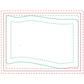 "Flag BIC Ecolutions Adhesive Die Cut Notepad (50 Sheets, 2.7431"" x 3.7406"")"