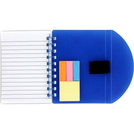 Branded Flexible Notebook and Sticky Note Combo