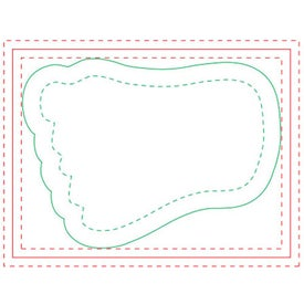 """Foot BIC Ecolutions Adhesive Die Cut Notepad (4"""" x 3"""", 100 Sheets)"""