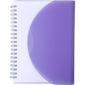 Printed Large Spiral Curve Notebook