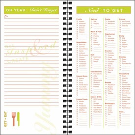 Imprinted Grocery Shopper Notebook