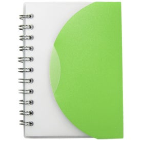 Halfmoon Spiral Note Pad with Your Slogan