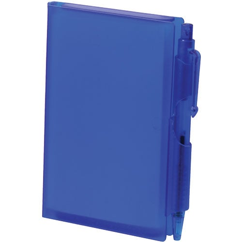 Translucent Blue Notepad with Pen