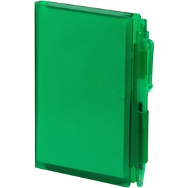 Imprinted Hard Cover Notepad with Pen