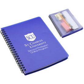 Customized Hardcover Notebook with Pouch