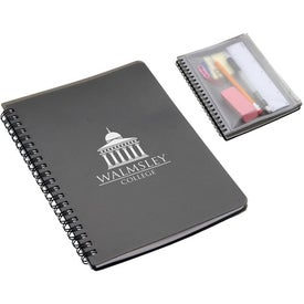 Monogrammed Hardcover Notebook with Pouch