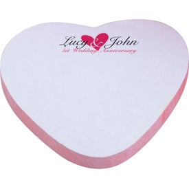 "Heart BIC Adhesive Spring Sticky Notepad (3"" x 3"", 100 Sheets)"
