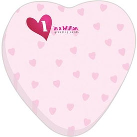 "Heart BIC Ecolutions Adhesive Die Cut Notepad (3"" x 3"", 25 Sheets)"