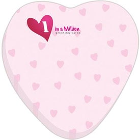 """Heart BIC Ecolutions Adhesive Die Cut Notepad (3"""" x 3"""", 50 Sheets)"""