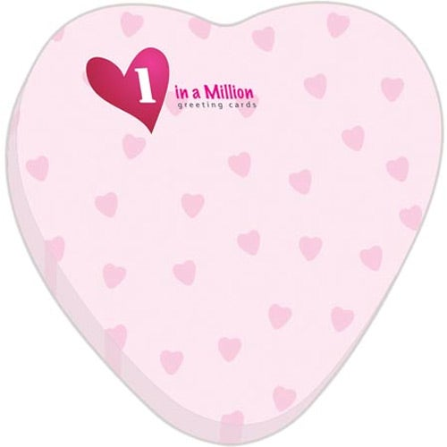 Heart BIC Adhesive Sticky Note Pads (Small, 25 Sheets)