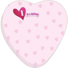 Heart BIC Adhesive Sticky Note Pads (Small, 50 Sheets)