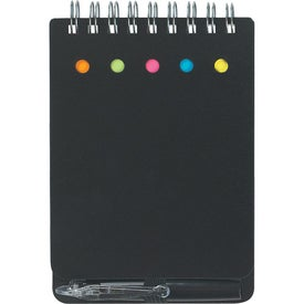 Spiral Jotter With Sticky Notes, Flags & Pen for Promotion