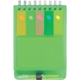 Spiral Jotter With Sticky Notes, Flags & Pen for Your Organization