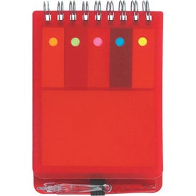 Spiral Jotter With Sticky Notes, Flags & Pen for Your Company