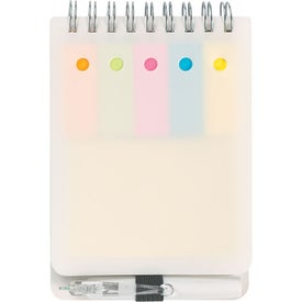 Spiral Jotter With Sticky Notes, Flags & Pen with Your Slogan