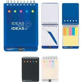 Jotter with Sticky Notes, Flags and Pen (80 Sheets)
