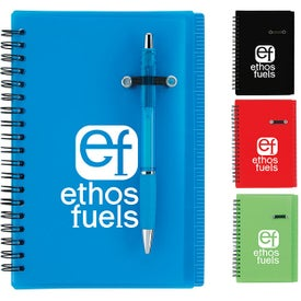 Logo Journal Notebook With Pen Loop