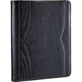 Customized Kate Deco Zippered Padfolio