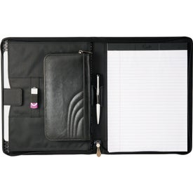 Imprinted Kate Deco Zippered Padfolio