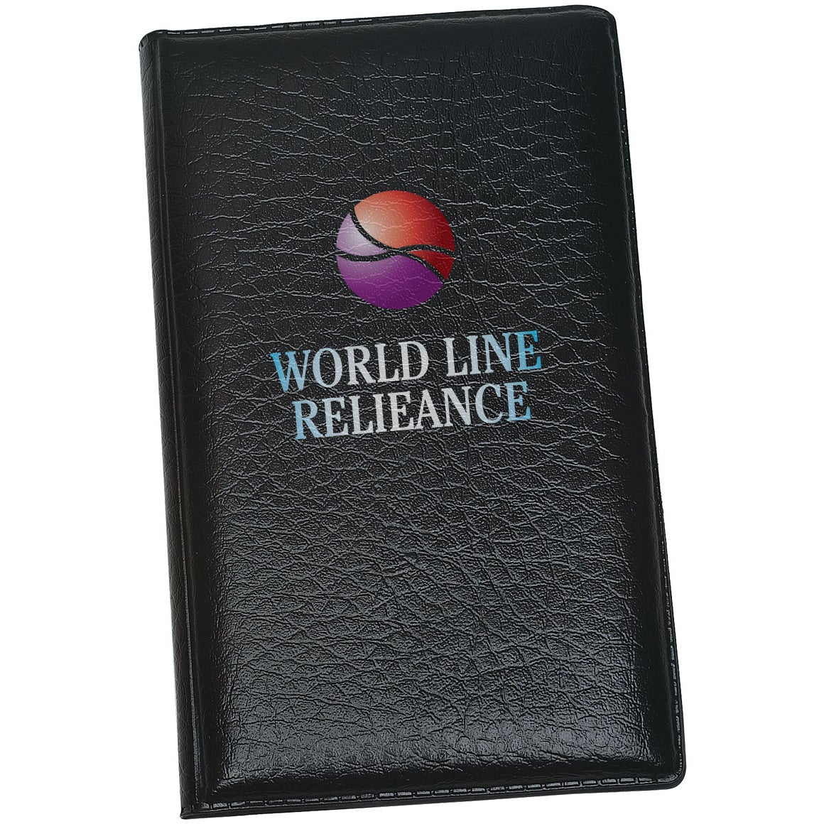 monogrammed leather look padfolio with sticky note pads and flags