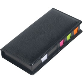 Logo Leather Look Case of Sticky Notes with Calendar