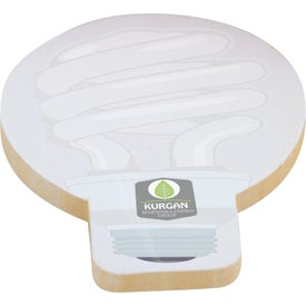 """Light Bulb Adhesive Spring Sticky Notepad (3"""" x 3"""", 50 Sheets)"""