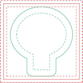 "Light Bulb BIC Ecolutions Adhesive Die Cut Notepad (3"" x 3"", 100 Sheets)"
