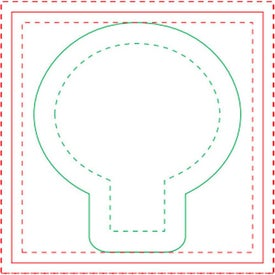 """Light Bulb BIC Ecolutions Adhesive Die Cut Notepad (3"""" x 3"""", 50 Sheets)"""
