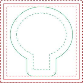 Light Bulb Adhesive Sticky Note Pads (Small, 25 Sheets)