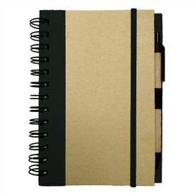 Medium Recycled Notebook Printed with Your Logo