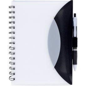 Customized Medium Flexible Notebook and Sticky Note Combo