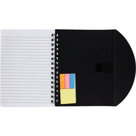 Medium Flexible Notebook and Sticky Note Combo for Marketing