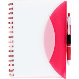 Medium Flexible Notebook and Sticky Note Combo Branded with Your Logo