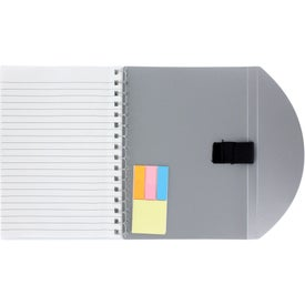 Medium Flexible Notebook and Sticky Note Combo Printed with Your Logo