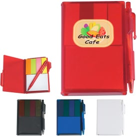 Memo Notebook with Sticky Notes and Pen for Your Company