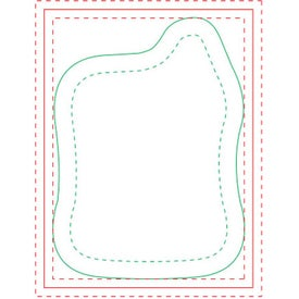 "Mortar BIC Ecolutions Adhesive Die Cut Notepad (100 Sheets, 3.7566"" x 2.7546"")"
