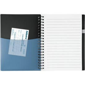 New Wave Black Pocket Buddy Notebook Branded with Your Logo