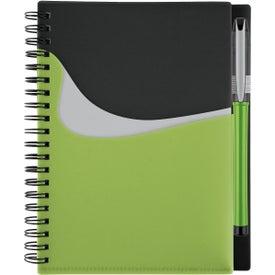 Branded New Wave Black Pocket Buddy Notebook