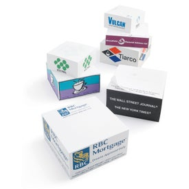 "Non-Adhesive Note Cube Notepads (Half Size, 3 7/8"" x 3 7/8"" x 2"")"
