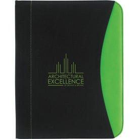 Non-Woven Curve Padfolio Imprinted with Your Logo