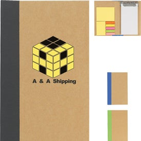 Company Notebook With Clip Board, Sticky Notes And Sticky Flags