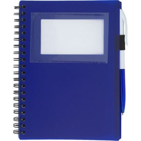 Spiral Notebook With ID Window Branded with Your Logo