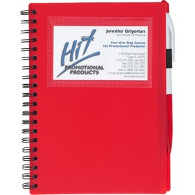 Custom Spiral Notebook With ID Window