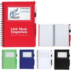Spiral Notebook With ID Window Imprinted with Your Logo