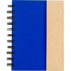Small Spiral Notebook with Sticky Notes and Flags for Customization