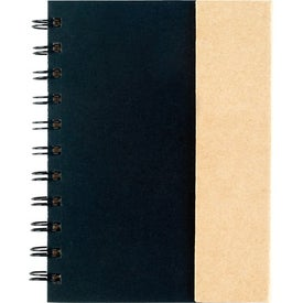 Branded Small Spiral Notebook with Sticky Notes and Flags